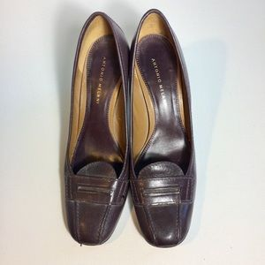 Antonio Melani Brown Heels Size 10M Glove Fit